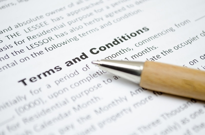 Compliance To Stated Terms and Conditions