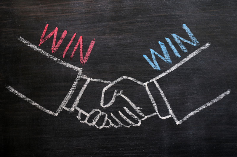 Try to build mutually beneficial partnership
