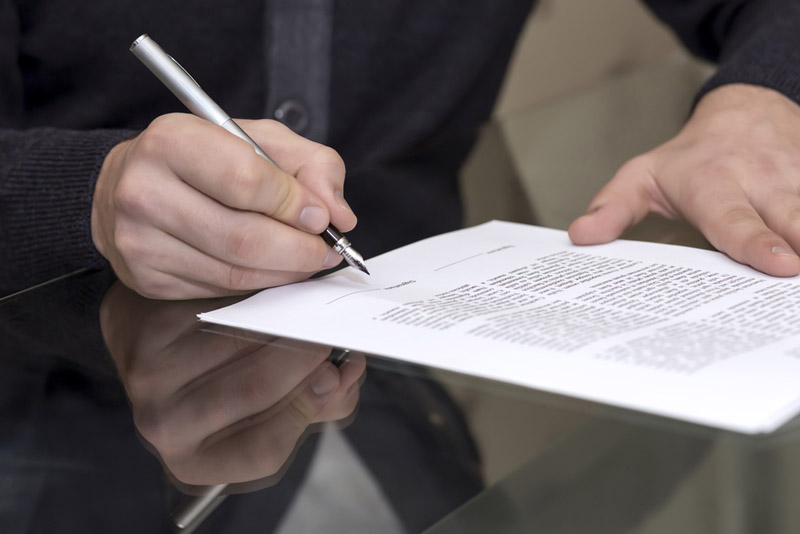 stage of contract signing