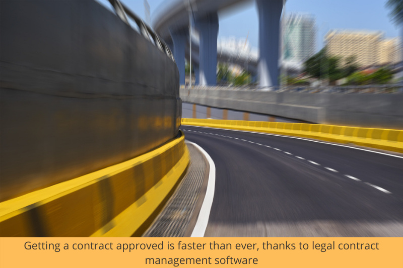 faster approvement of contracts thanks to legal contract management software
