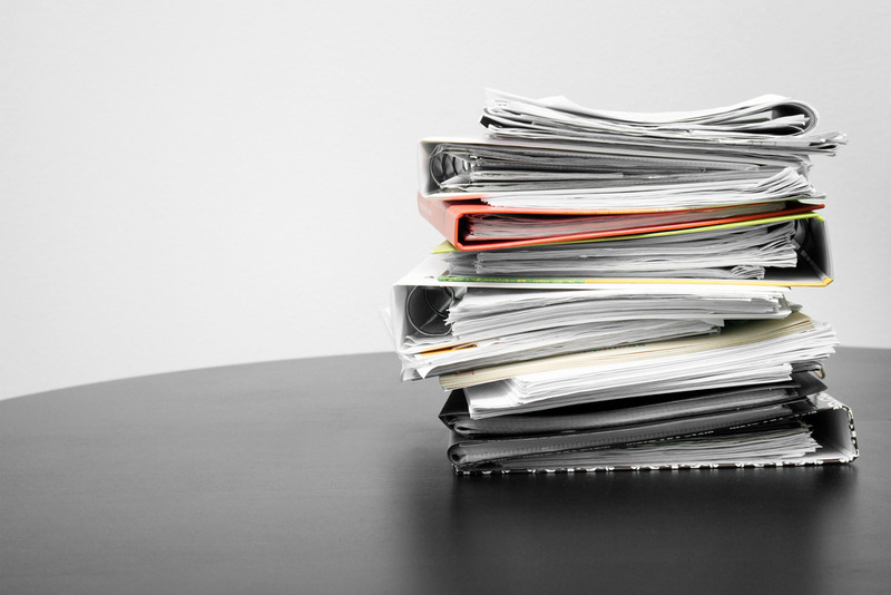 legal documents and folders