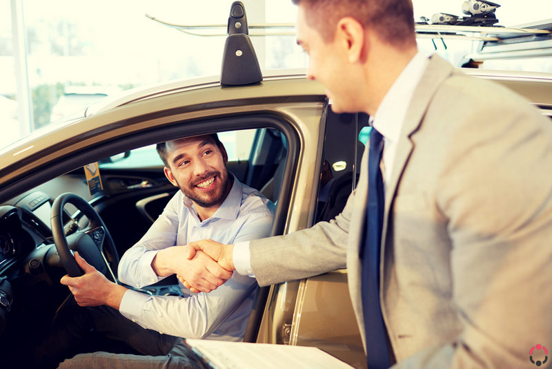 The agreement between the seller and the car buyer, an example of a Bill of Sale contract