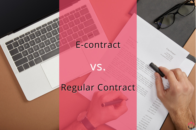 difference between digital and regular contract