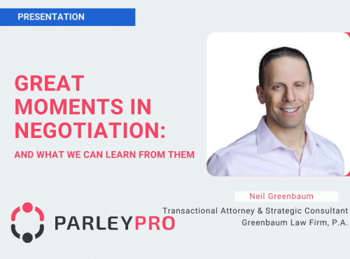 "Neil Greenbaum on ""Great Moments in Negotiation: And What We Can Learn From Them"""