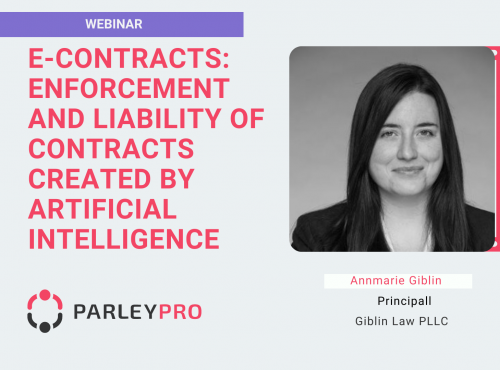 Annmarie Giblin Enforcement and Liability of Contracts created by Artificial Intelligence