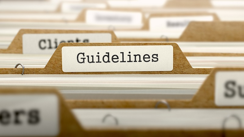 "the word ""Guidelines"" on the folder"